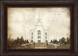 Kansas City Temple - Vintage Framed