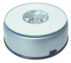 Lighted Rotating Base - Colored Lights