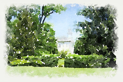 Kirtland Temple - Watercolor Print