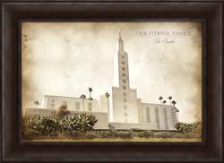 Los Angeles Temple - Vintage Framed