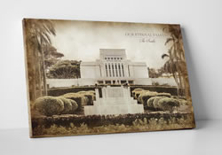 Laie Temple - Vintage Canvas Wrap
