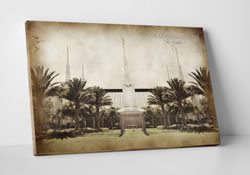 Las Vegas Temple - Vintage Canvas Wrap