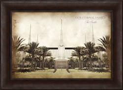 Las Vegas Temple - Vintage Framed