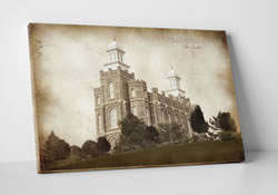 Logan Temple - Vintage Canvas Wrap
