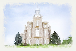 Logan Temple - Watercolor Print