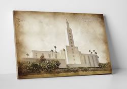 Los Angeles Temple - Vintage Canvas Wrap