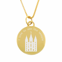 I Love to See the Temple Necklace - Gold - LDP-CPN1001