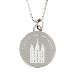I Love to See the Temple Necklace - Silver