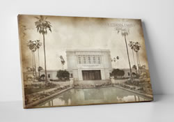 Mesa Temple - Vintage Canvas Wrap