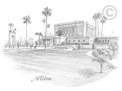 Mesa Arizona Temple - Sketch