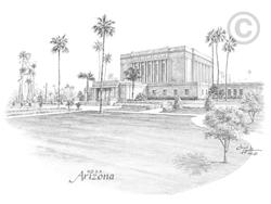Mesa Arizona Temple - Sketch