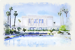 Mesa Temple - Watercolor Print - D-LWA-WC-MESA