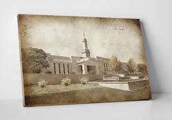 Monticello Temple - Vintage Canvas Wrap
