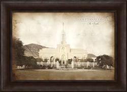Timpanogos Temple - Vintage Framed