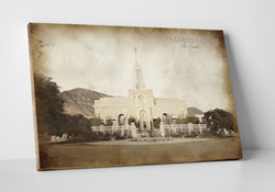 Mt. Timpanogos Temple - Vintage Canvas Wrap