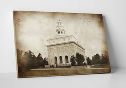 Nauvoo Temple - Vintage Canvas Wrap
