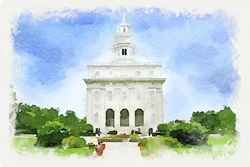 Nauvoo Temple - Watercolor Print - D-LWA-WC-NAUVOO