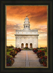 Nauvoo Temple - Sunrise nauvoo temple, nauvoo art, lds wedding gifts, lds gifts, lds framed art