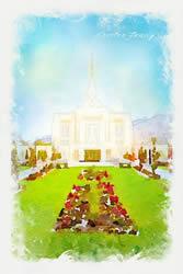 Ogden Temple - Watercolor Print