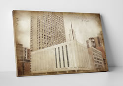 Manhattan Temple - Vintage Canvas Wrap - D-LWA-CWT-MTN