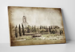 Newport Beach Temple - Vintage Canvas Wrap