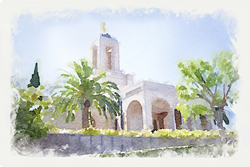 Newport Temple - Watercolor Print