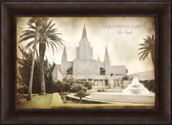 Oakland Temple - Vintage Framed