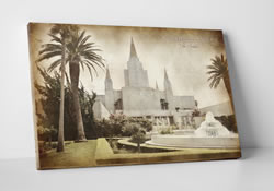 Oakland Temple - Vintage Canvas Wrap