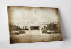 Oklahoma Temple - Vintage Canvas Wrap