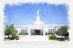Oklahoma Temple - Watercolor Print