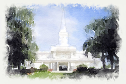 Orlando Temple - Watercolor Print