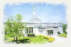 Palmyra Temple - Watercolor Print
