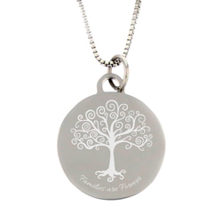 Families Are Forever Necklace - Silver - LDP-CPN0599