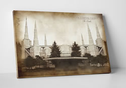 Portland Temple - Vintage Canvas Wrap