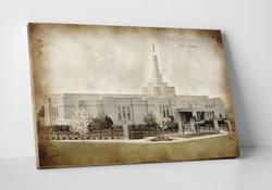 Reno Temple - Vintage Canvas Wrap