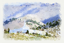 Reno Temple - Watercolor Print