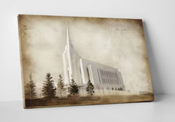Rexburg Temple - Vintage Canvas Wrap