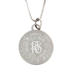 Silver Relief Society Necklace - Christmas Project - LDP-CPN05105-XMAS