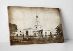 Sacramento Temple - Vintage Canvas Wrap