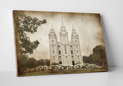 Salt Lake Temple - Vintage Canvas Wrap
