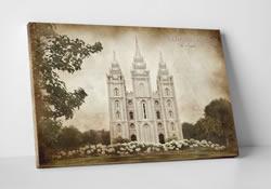 Salt Lake Temple - Vintage Canvas Wrap - D-LWA-CWT-SLC