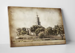 San Antonio Temple - Vintage Canvas Wrap