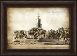 San Antonio Temple - Vintage Framed