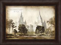 San Diego Temple - Vintage Framed
