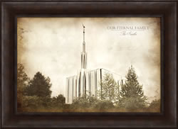 Seattle Temple - Vintage Framed