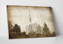 Seattle Temple - Vintage Canvas Wrap