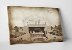 Snowflake Temple - Vintage Canvas Wrap