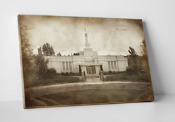 Spokane Temple - Vintage Canvas Wrap