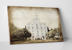 St. George Temple - Vintage Canvas Wrap