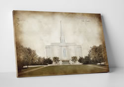 St. Louis Temple - Vintage Canvas Wrap